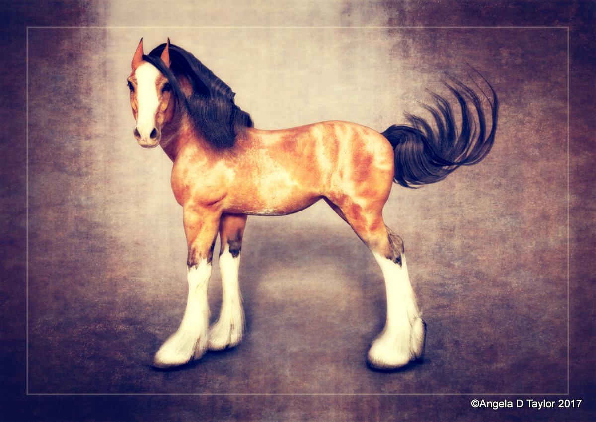 Hivewire Horse Draft Horse Foal Caricature