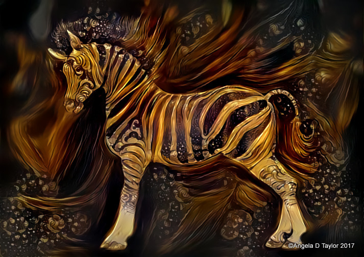 Hivewire Horse Zebra Arabian Stylised Render 2