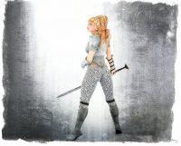 Custom morphed Genesis 3 female with one of my own hair figures. Daz Studio Iray render.
