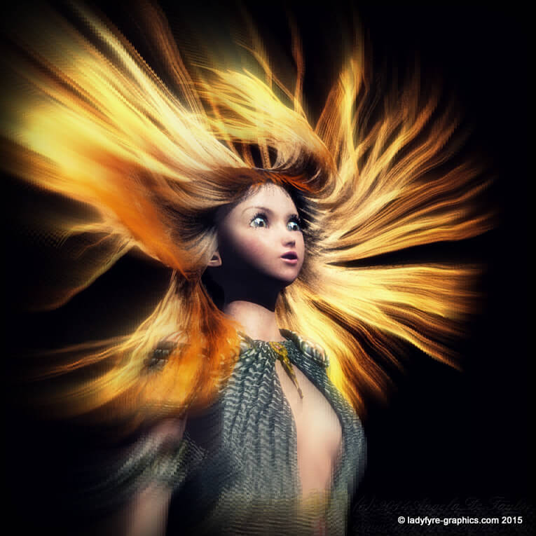 3d Portrait Gallery | Aiko 3d character rendered in Carrara 8 with dynamic hair