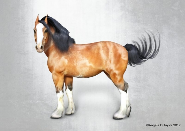 Hivewire Harry Draft Horse Character 2017