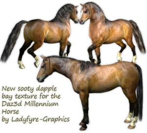 Sooty Bay Millennium Horse Texture