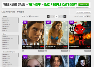 Daz 70% off sale this weekend only