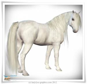 Long wavy mane for the Daz Horse 2 free download