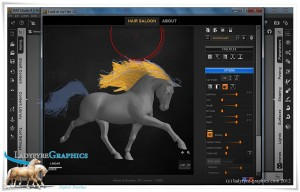 Look at My Hair plugin for Daz Studio with Daz Horse 2