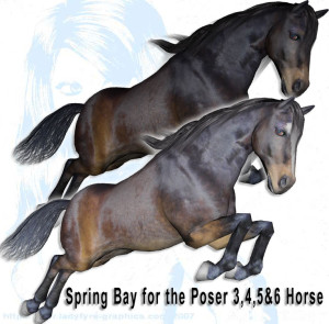 Free Downloads for the Daz Studio and Poser Horse Figures