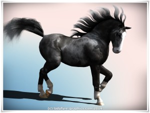 Daz3d Millennium Horse with Carrara dynamic hair