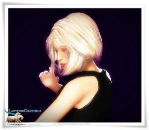 Victoria 3 moody portrait Poser 3d