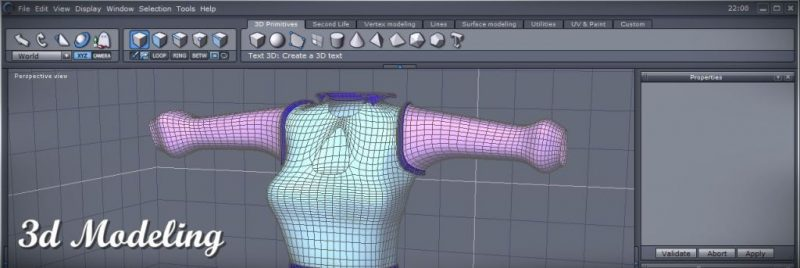 3d Modeling in Daz Hexagon