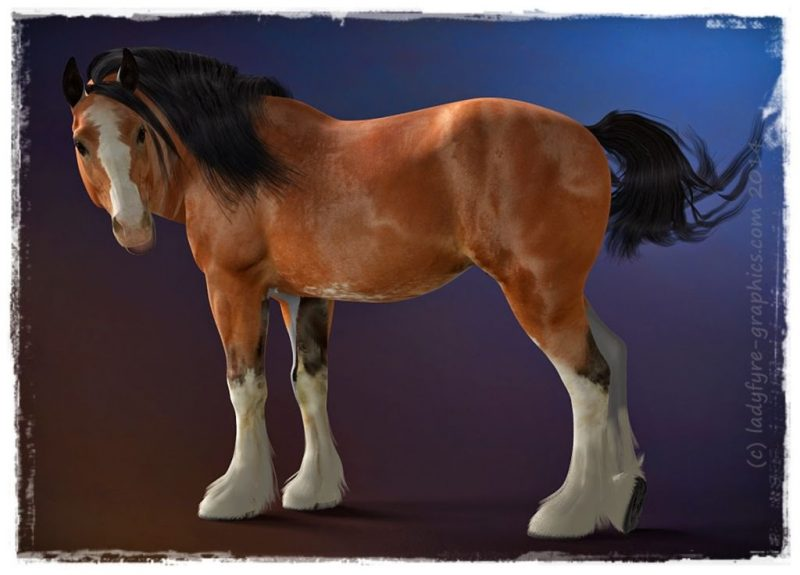 New Texture for Hivewire 3d Horse Harry (WIP)