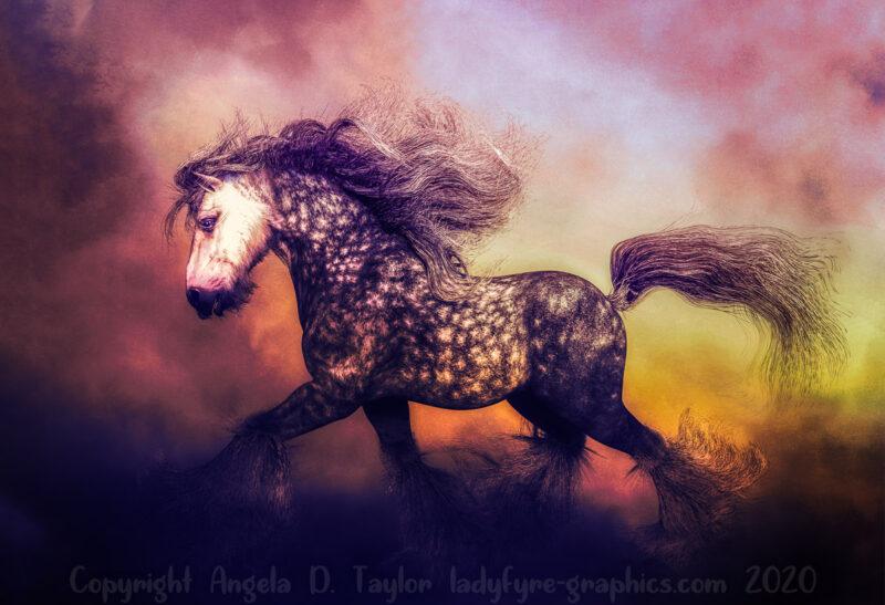 3d Heavy Horse Render Digital 3d Art