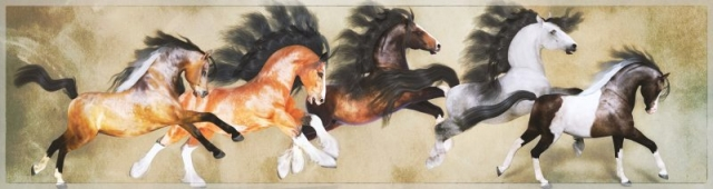 Five Beauties - all horses are the Hivewire horse with my own custom textures and morphs