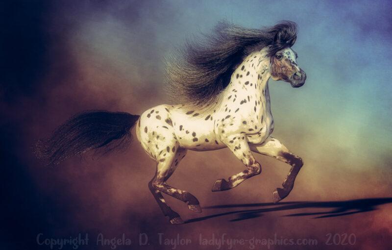 iRay Render Daz Horse 2 Strand Based Hair V1