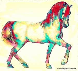 Daz Horse 2 3d horse model | Colourful Pony