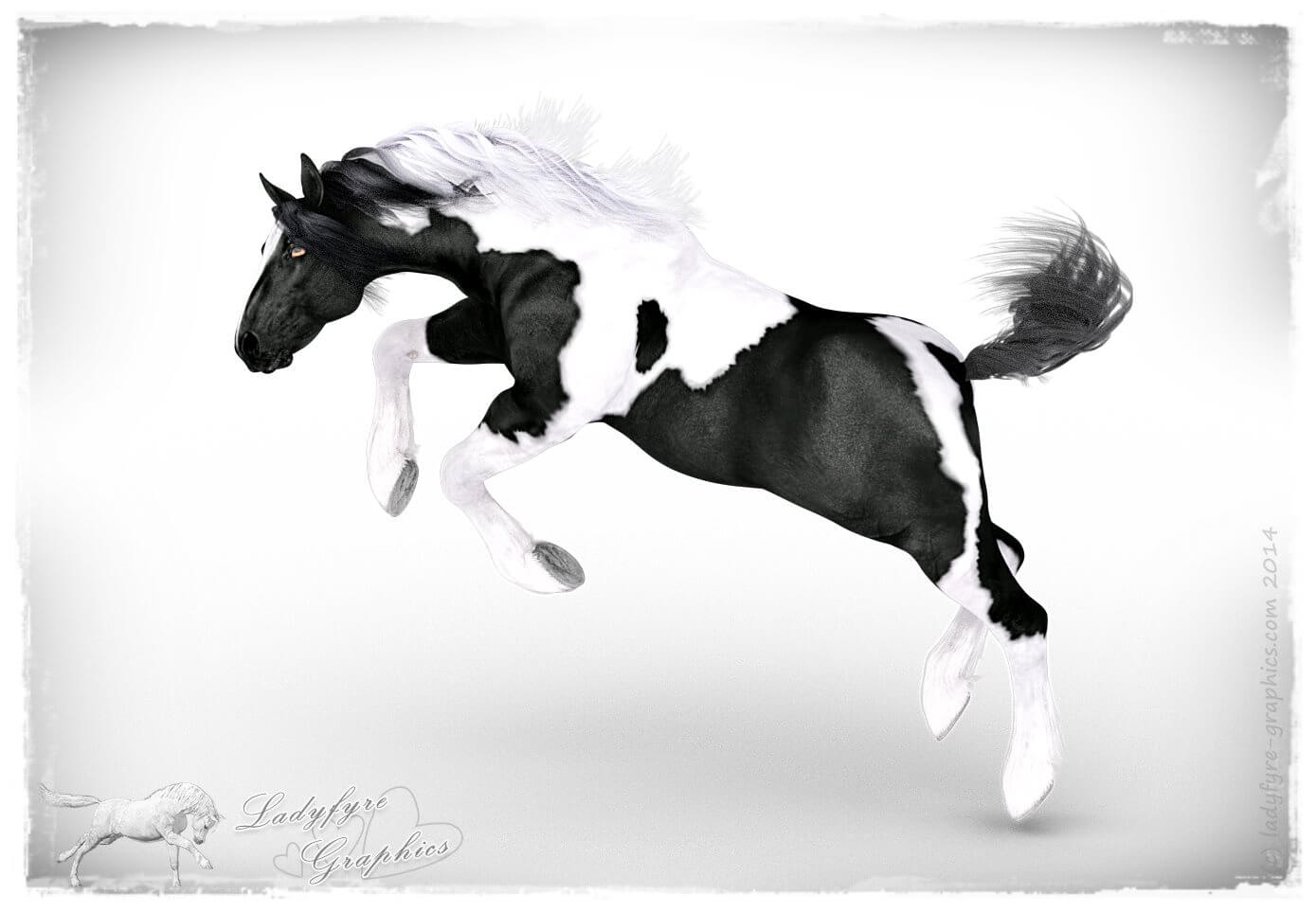 HW Horse with CWRW's Gypsy Vanner Texture