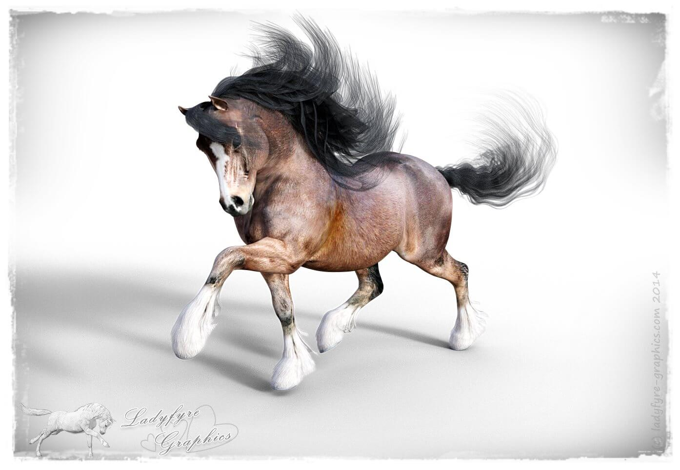 Hivewire Horse Remap with my MilHorse Native Pony Texture Set