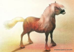 Hivewire 3d horse model |Toon Shetland Pony