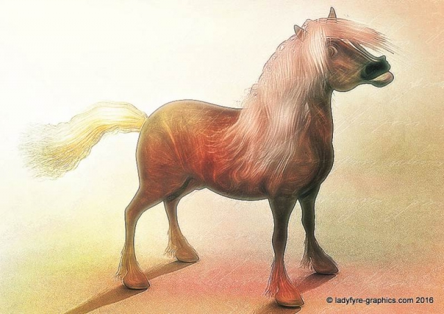 Hivewire 3d horse model |Toon Shetland Pony