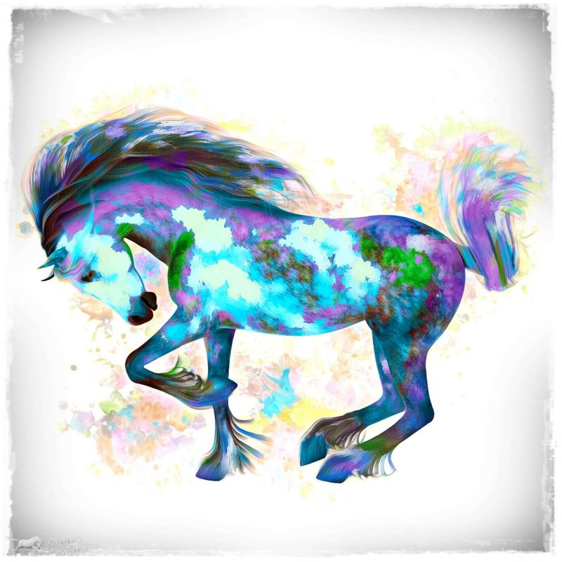 Having fun with the Hivewire Horse in Photoshop!