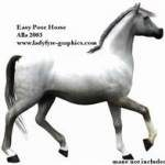 Free Poser Download - easy poser p4 horse with realistic grey texture