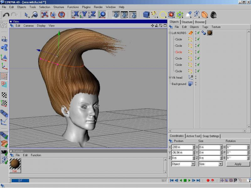 Poser 3d Hair Modeling Tutorial Using Cinema 4d - step 3