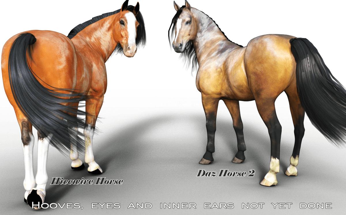 Hivewire Horse texture, HW3d, Hivewire3d