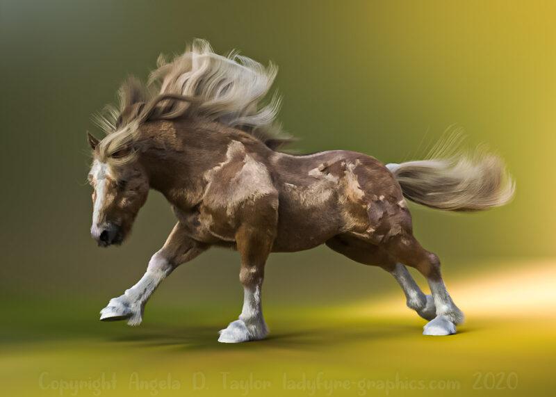 Hivewire Horse Strand Based Hair Winter Coat Cob 001