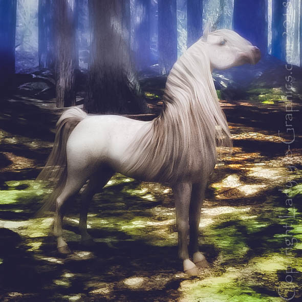 Woodland Unicorn - Daz Horse 2