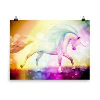 Rainbow Unicorn Dreams Poster