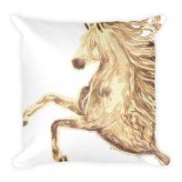 Sparkle Horse Motif Pillow