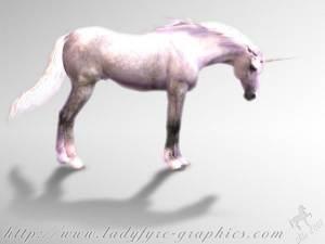Poser Horse Unicorn Millennium Horse Render