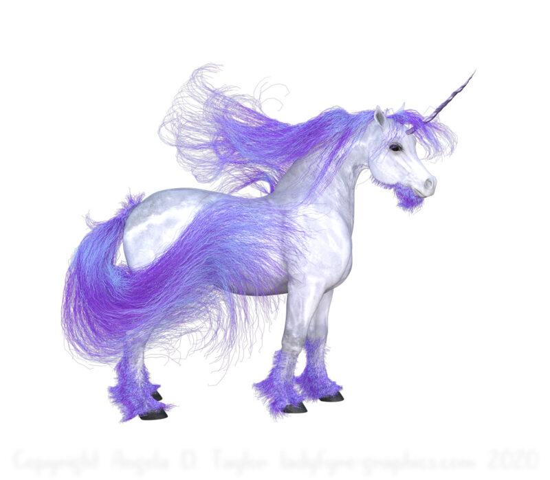 Purple Unicorn Pony
