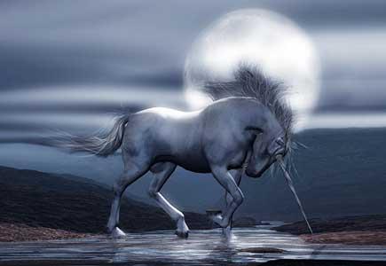 Unicorn Moon 3d Art Render