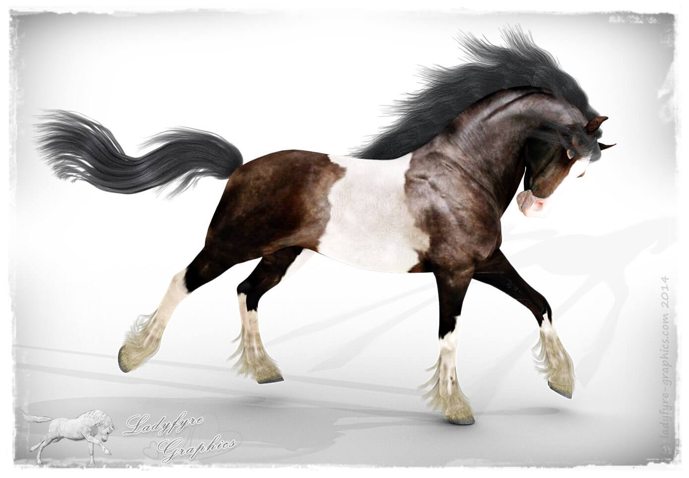 Mil Horse texture on the Hivewire horse via my remap